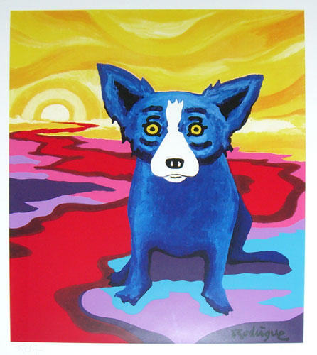 Blue Dog on the River par George Rodrigue