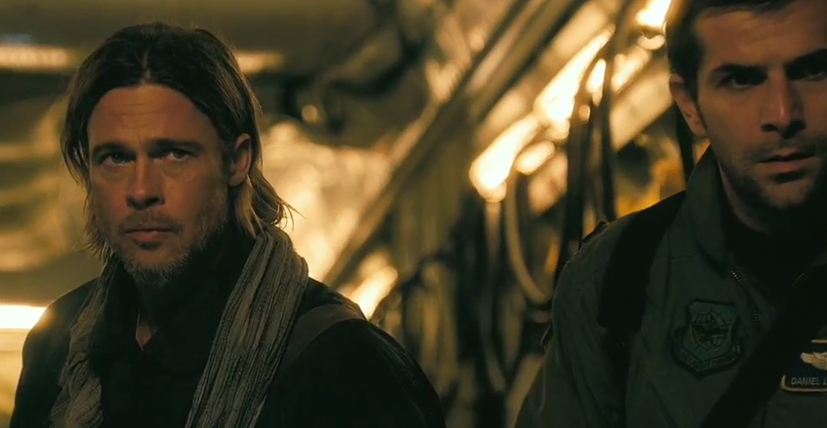 World War Z - Brad Pitt et Gregory Fitoussi